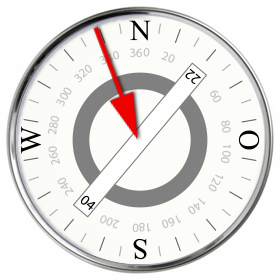 Anzeige Windrichtung